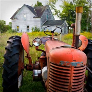 Farmyard we photographed in Door County