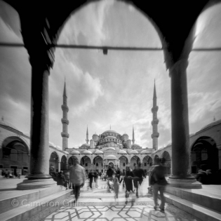 Pinhole photograph of the Blue Mosque in Istanbul, Turkey.