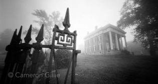 Pinhole photography of the Lamier Mansion in Madison, Indiana.