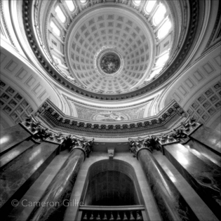 Pinhole Photograph of the Wisconsin state Capitol Rotunda in Madison.