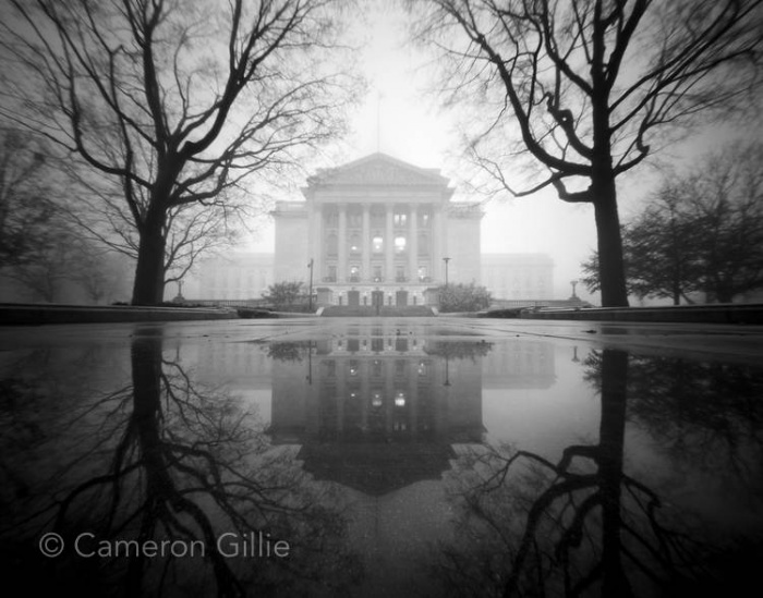 An image taken by pinhole photographer Cameron Gillie with a pinhole camera.