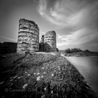 pinhole photograph of Yoros Castle in Istanbul, Turkey.