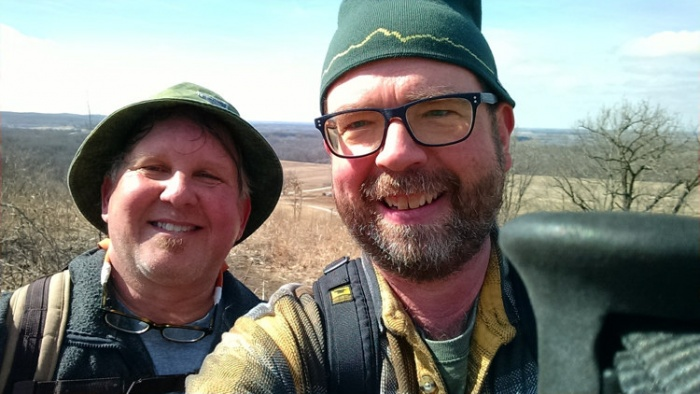 Taking a selfie on the Kettle Moraine Bald Bluff Hiking Trail.