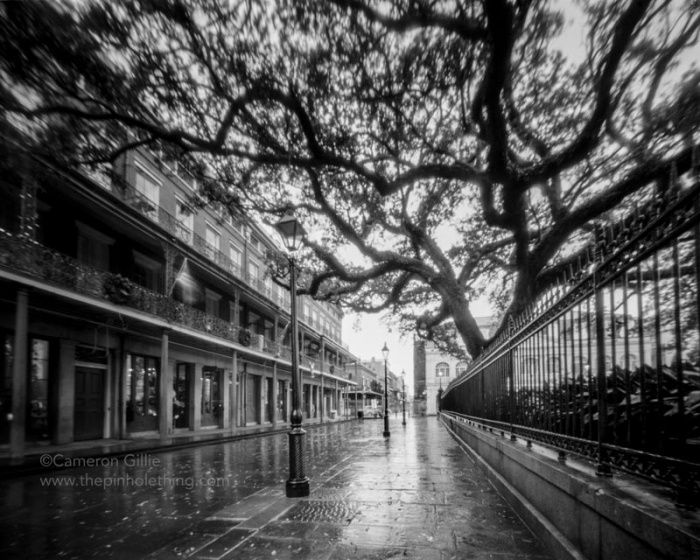 pinhole photograph of jackson square in new Orleans.