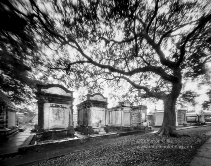 Pinhole of the Metairie Cemetery in new orleans